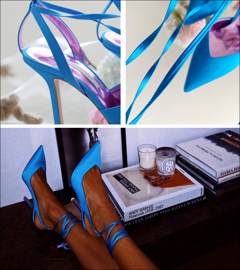 walking edge heel (blue)